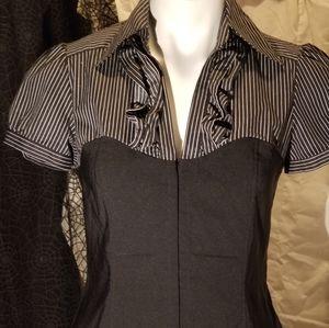 Black & White corset blouse by INC Int'l Concepts